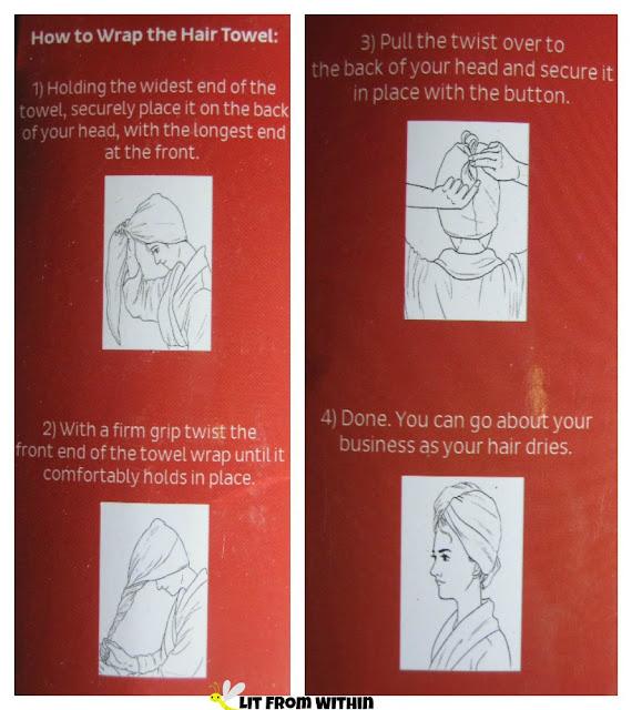 Hiara hair towel directions