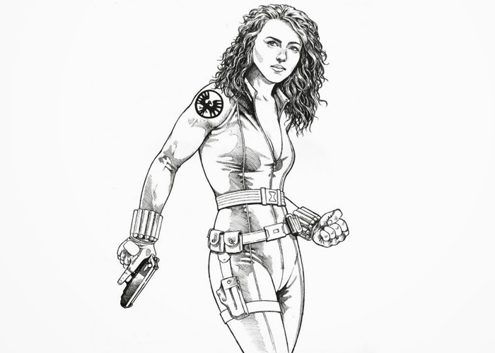free black widow coloring pages - photo#15