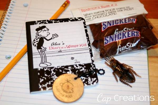 Cap creations diary of a wimpy kid party i love me a good goodie bag we had a blast solutioingenieria Images