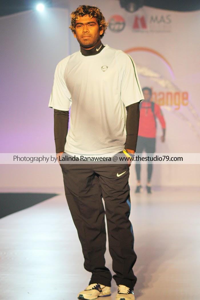lasith malinga fashion show