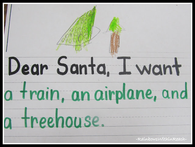 photo of: Dear Santa Letter for Fine Motor Work via RainbowsWithinReach