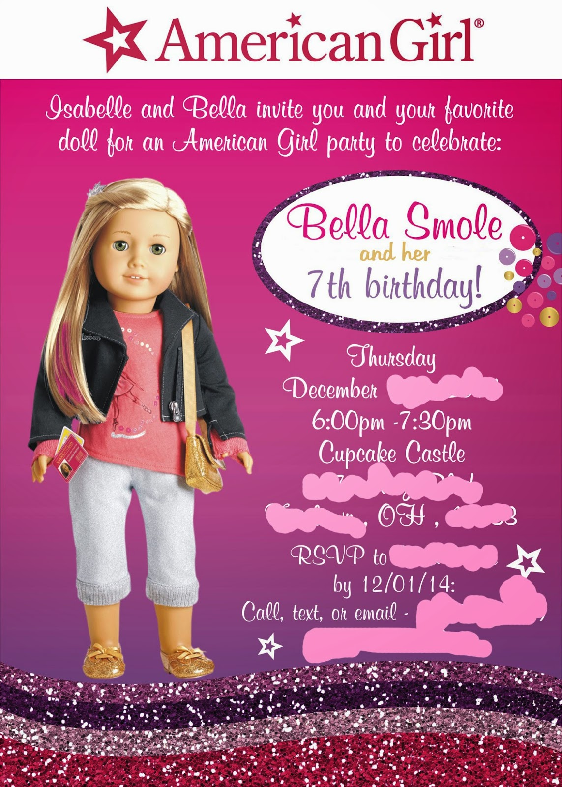 Craft Lovers Come Here My Cricut Craft Rooms American Girl Blog – American Girl Birthday Invitations