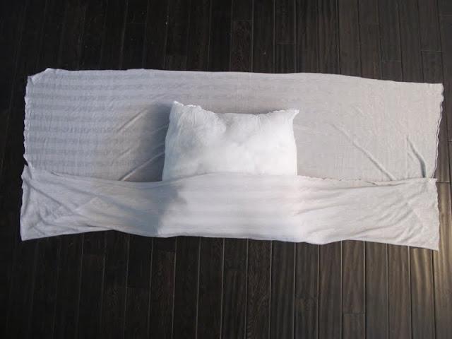 DIY no sew pillow