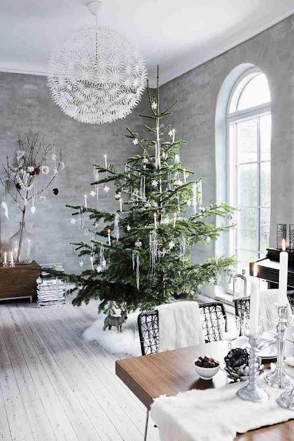 Salon zaaranżowany w stylu skandynawskim