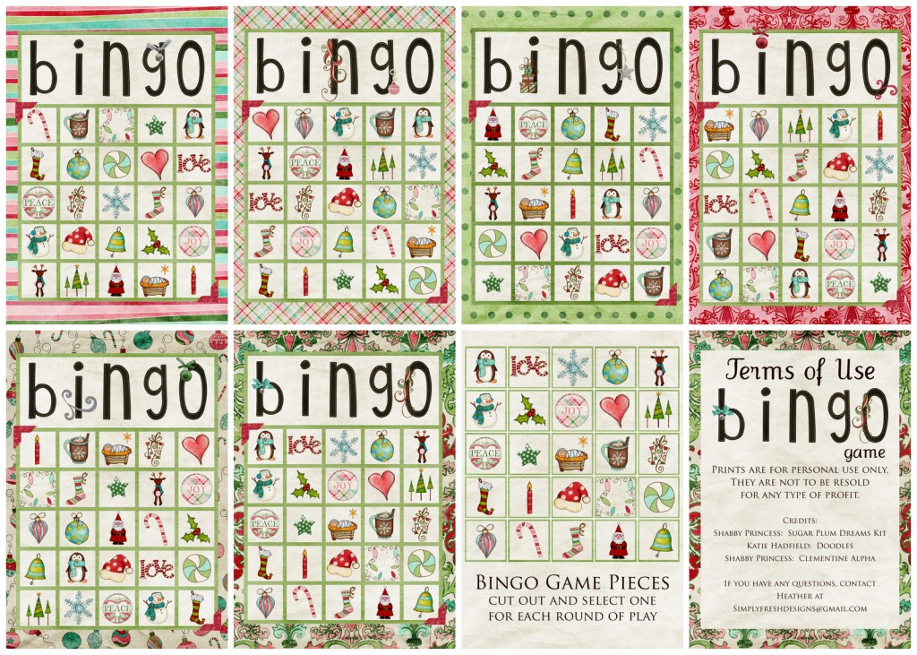 Juicy image with free printable christmas bingo cards