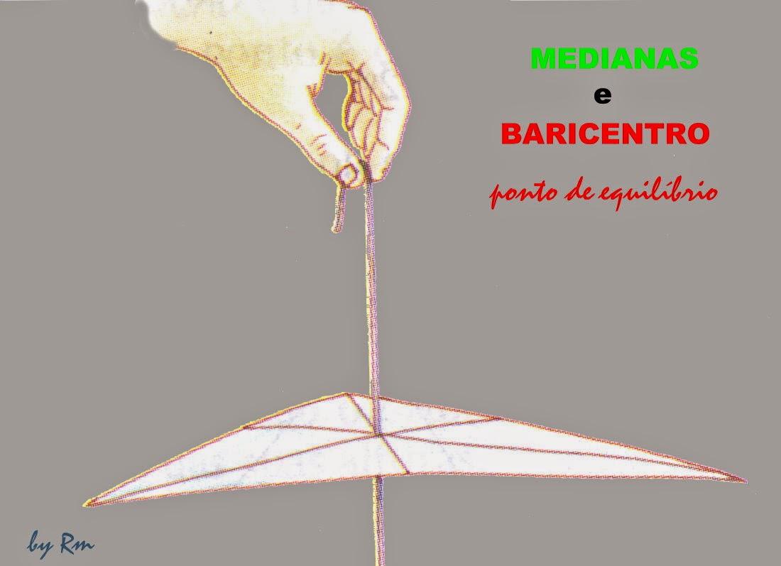 Suspendendo o triângulo pelo Baricentro, ele não pende para nenhum lado, pois está equilibrado.