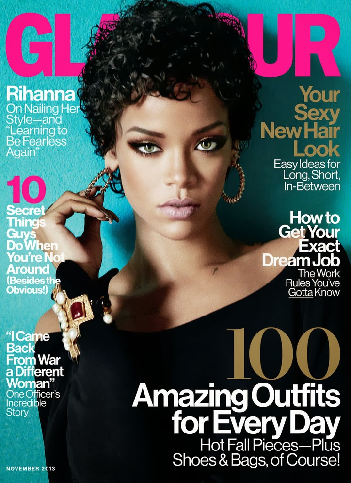 Magazine Love: Rihanna Covers Glamour Magazine! She's Working IT!