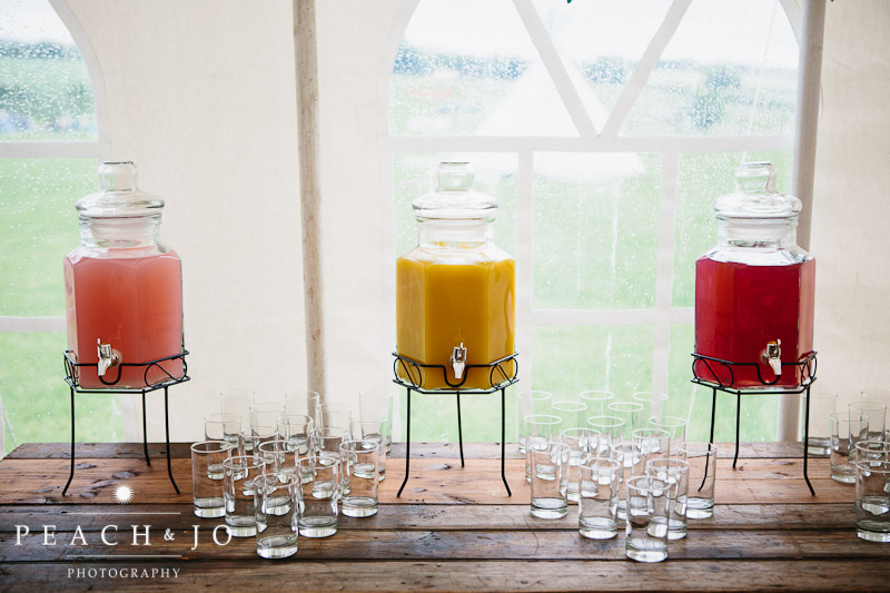 pretty wedding drinks