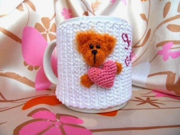 Cubre taza tejido a crochet