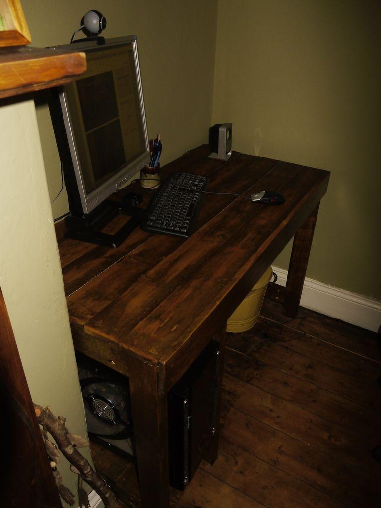 - Escritorios rusticos de madera ...