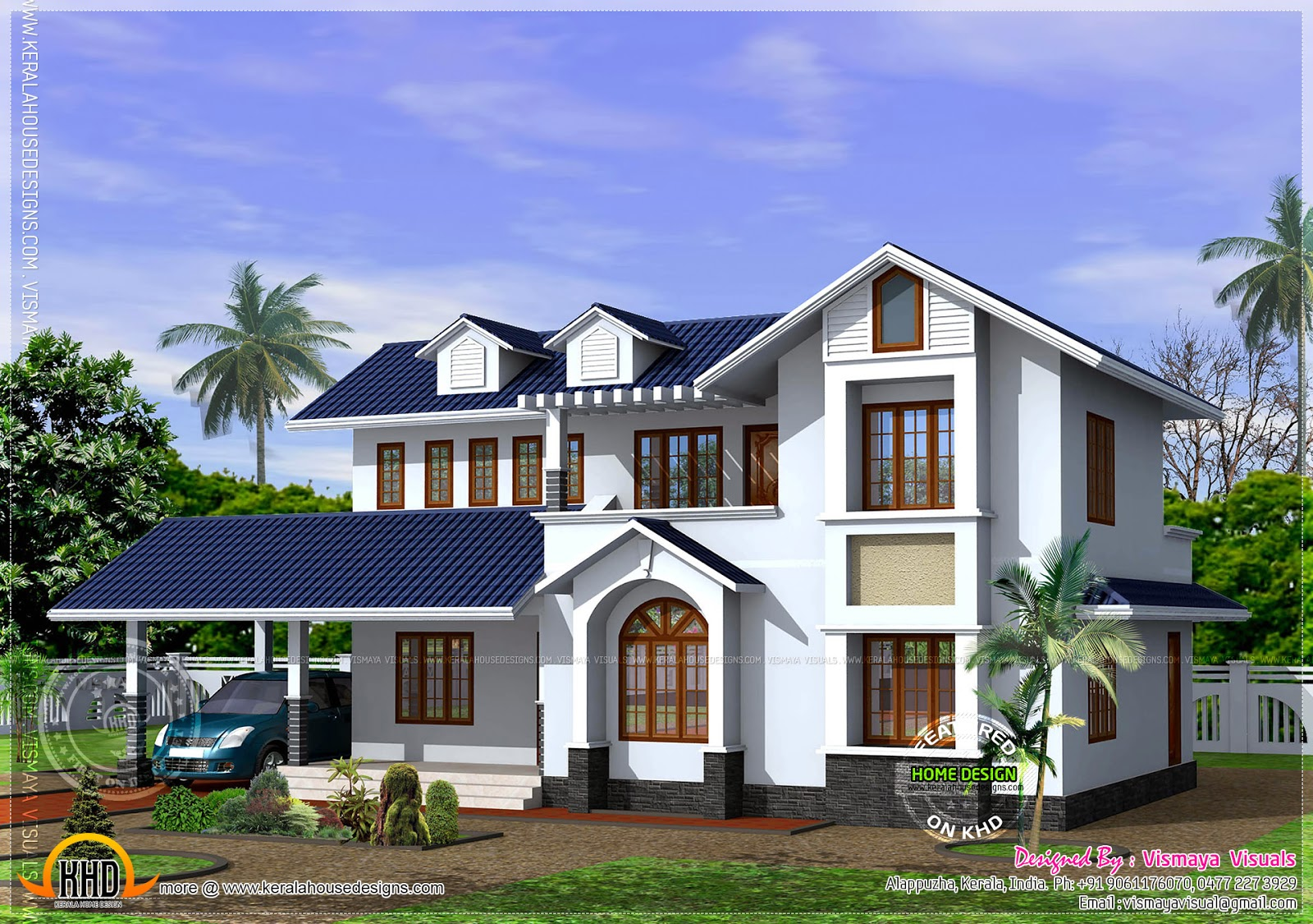 Kerala style house with free floor plan kerala home for Home designs kerala style