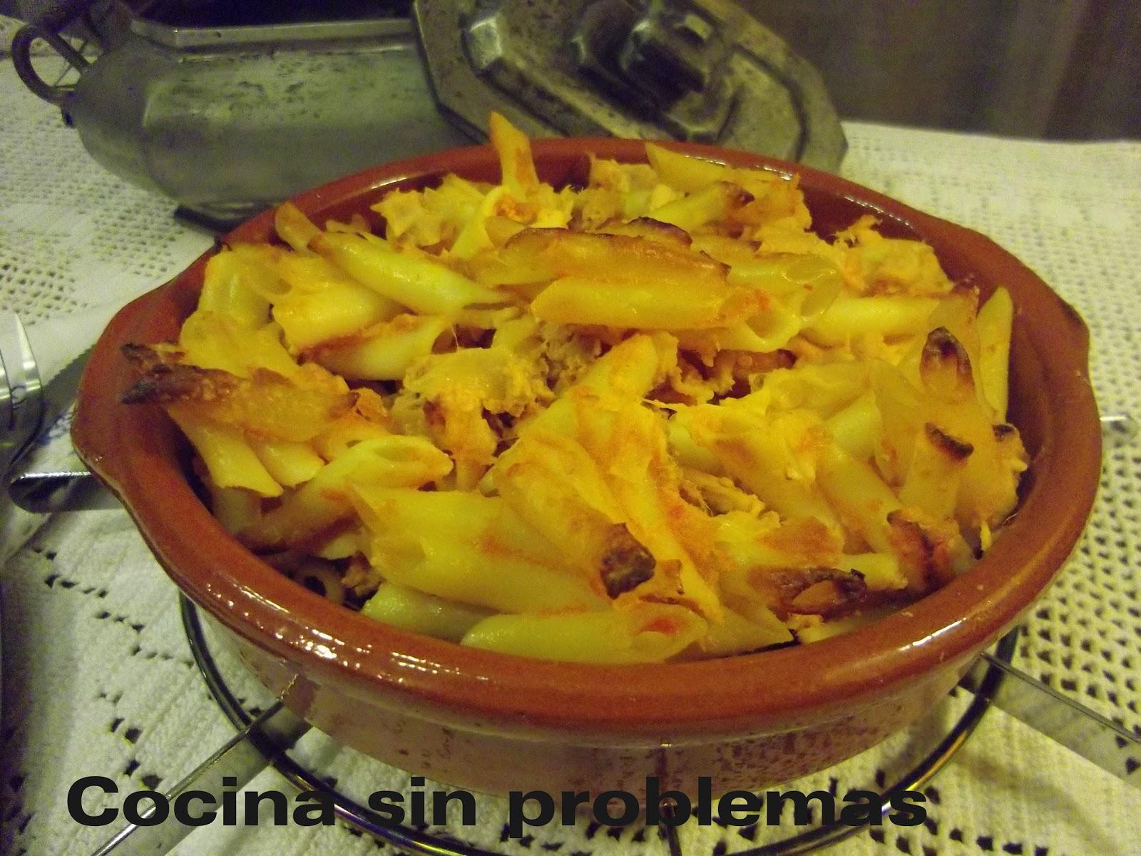 Cocina sin problemas macarrones con at n y huevo al horno - Macarrones con verduras al horno ...