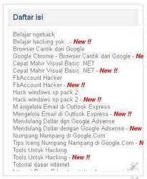daftar isi sitemap blog