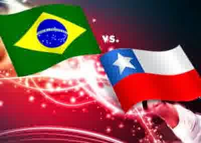 (28/06) Perkiraan Skor Fase 16 Besar Brasil vs Chile World Cup
