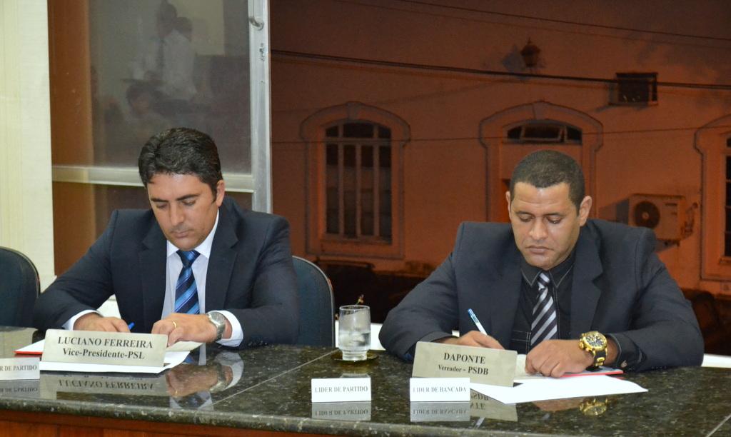 Vereadores Daponte e Luciano Ferreira