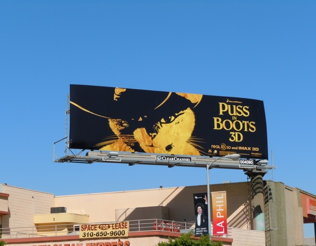 Puss in Boots 3D movie billboard