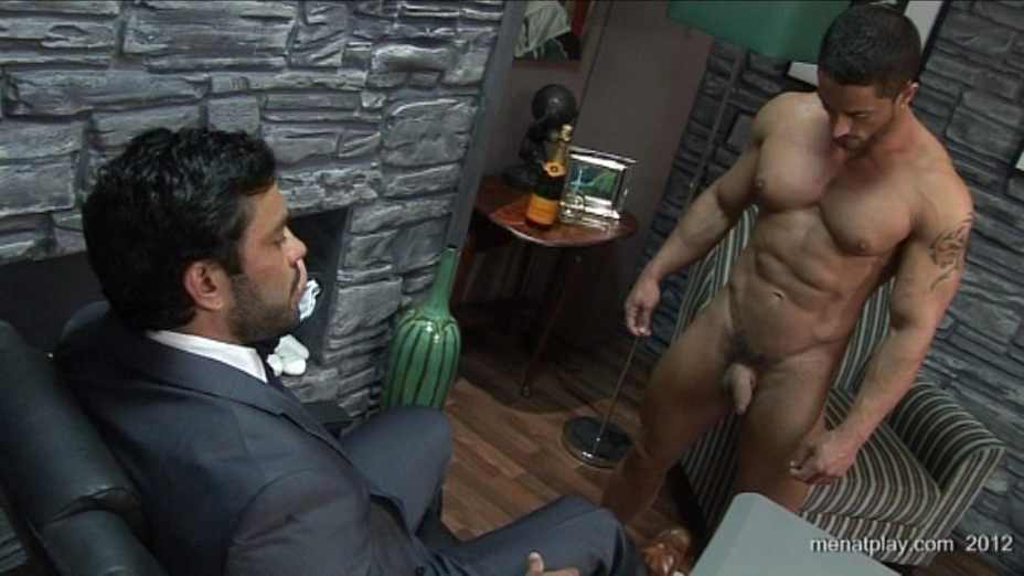 Suited Gayhunk Rams His Bear Boss On Officedesk