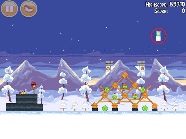 Angry Birds Seasons: Wreck the Halls - Golden Eggs - 1-15