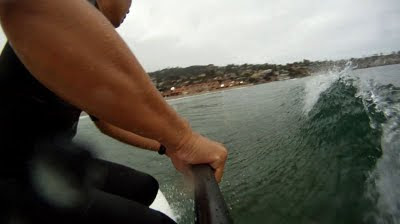 La Jolla Shores - 8'10 Paddle Surf Hawaii Hull Ripper - down the line
