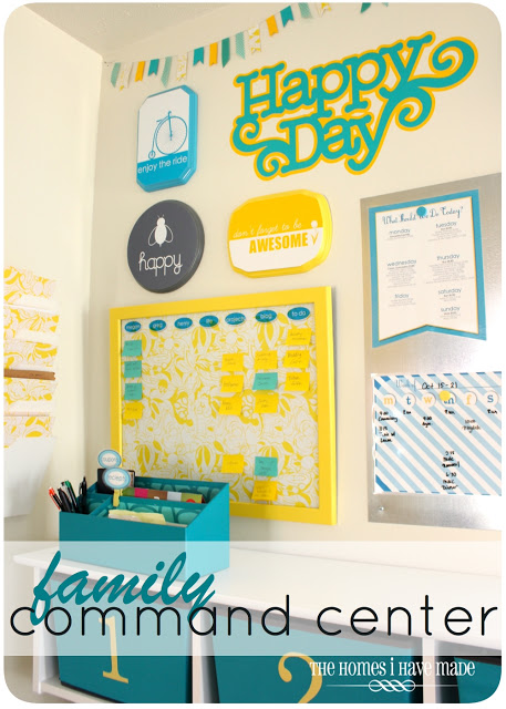 Family Command Center photo featured on Operation Organization by Heidi article: Why Can't I STAY Organized? Peachtree City Professional Organizer