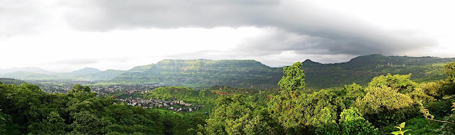 long shot aerial view of Khopoli