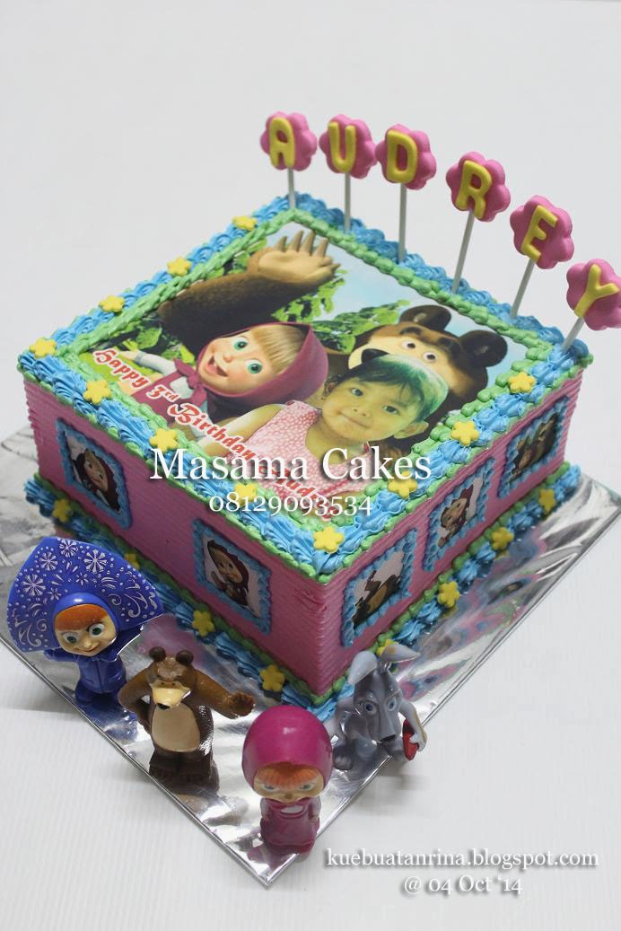 Masama Cakes Masha and Bear Birthday Cake For Audrey