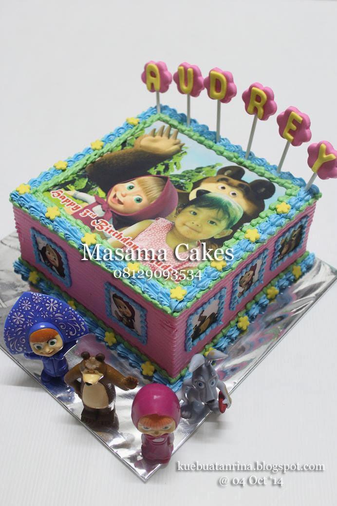 Masama Cakes Masha And Bear Birthday Cake For Audrey
