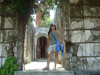 main door of the ruins in Guimaras