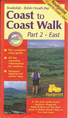 Footprint Map - Coast to Coast Walk Part 2 - East Front
