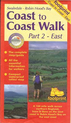 Footprint Map - Coast to Coast Walk Part 2 - East Front