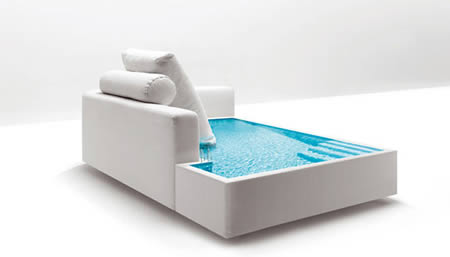 10 cool and unusual sofas for a stylish living room for Concept piscine design