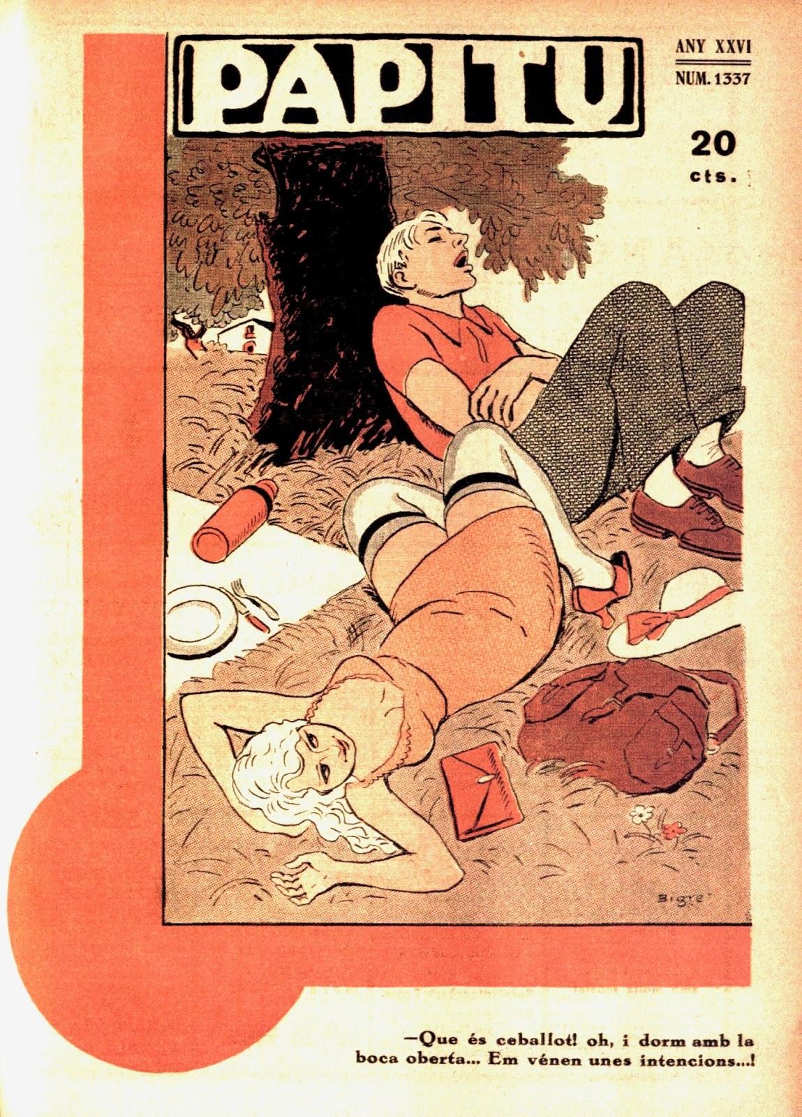 Revista Papitu, octubre 1934, portada per Ricard Opisso