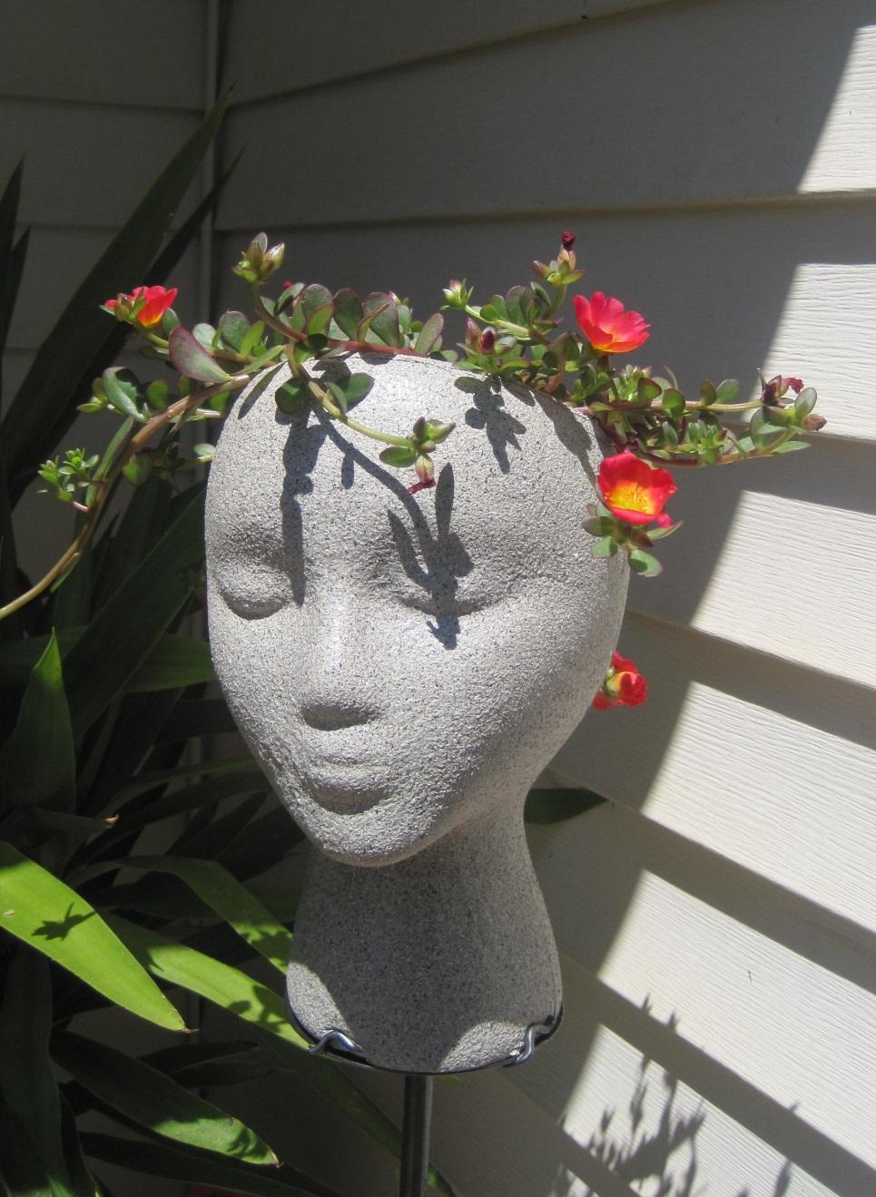 Vetsy 39 s view diy garden head project - Like that garten ...