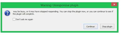 Unresponsive Plugin Mozilla Firefox