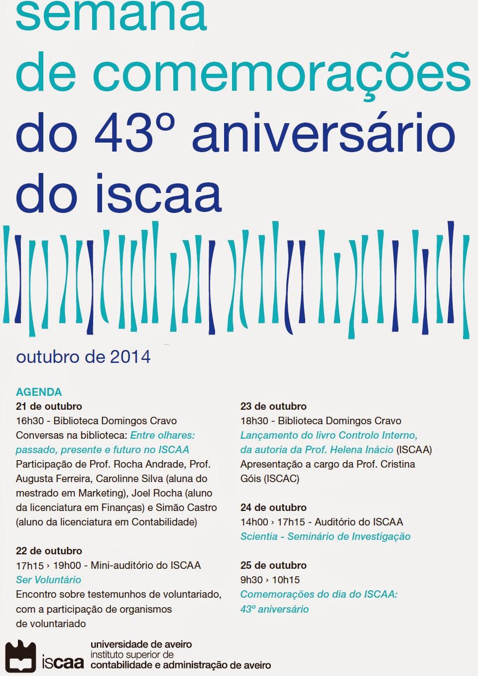 43º aniversário do ISCAA