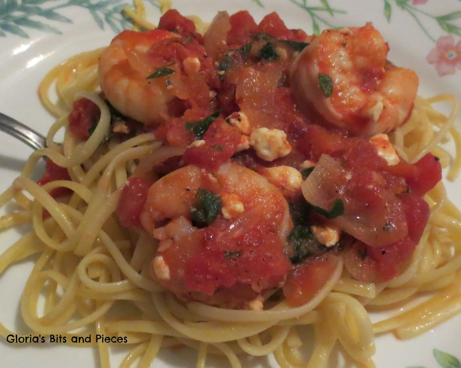 Shrimp Linguine In A Tomato And White Wine Sauce Recipe ...