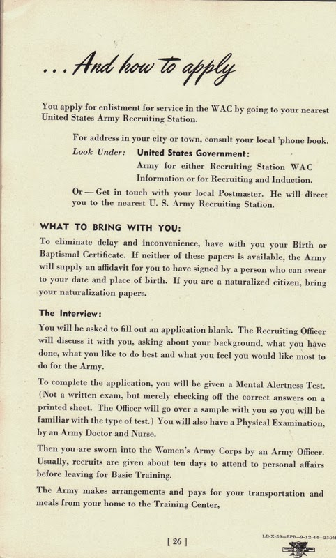 A book of facts about the wac womens army corps booklet 1944 i have more vintage finds to share soon thanks yadclub Gallery