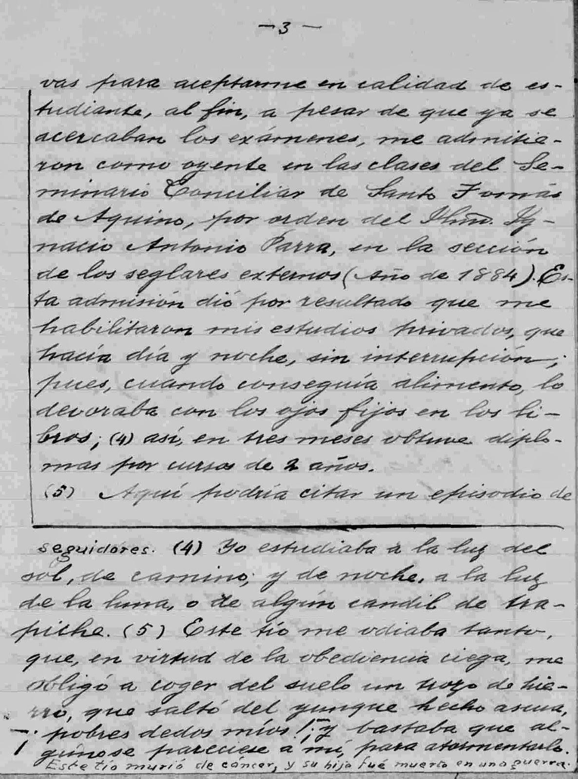 página 3 del manuscrito