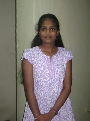 Beautiful Coimbatore girl getting ready for college.