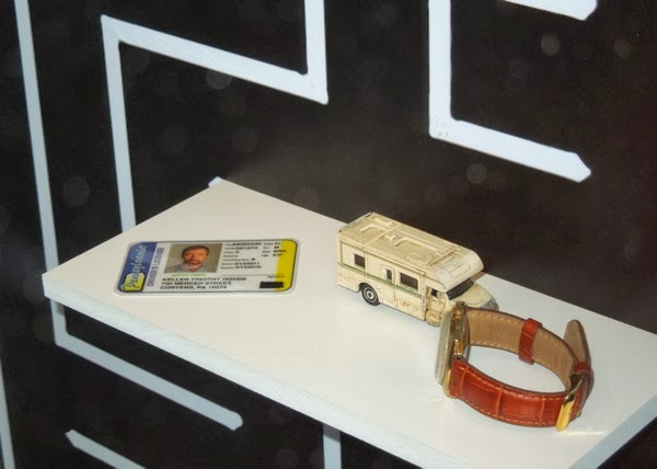 Prisoners Drivers License toy camper van watch props