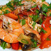 Stir Fried Shrimps and Mushrooms