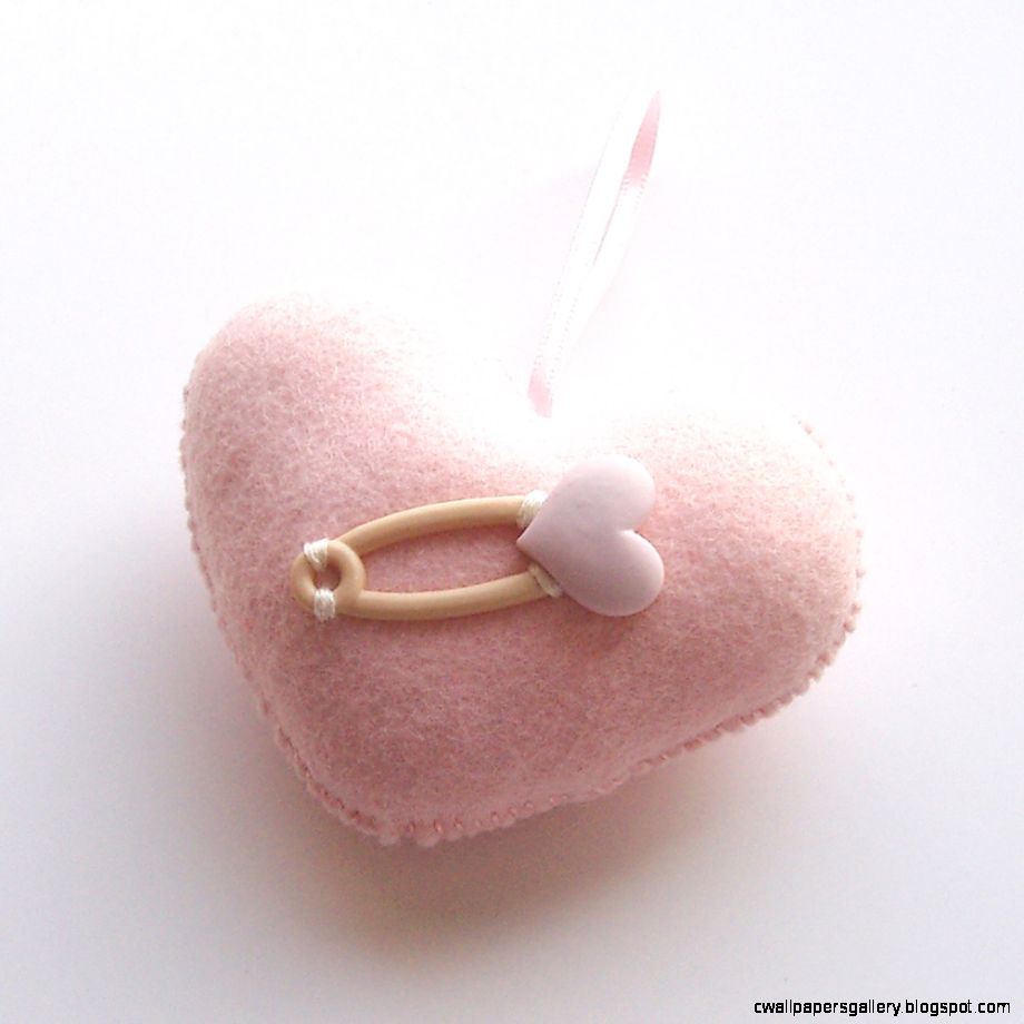Baby Pink Love Heart With Heart Pin on Luulla