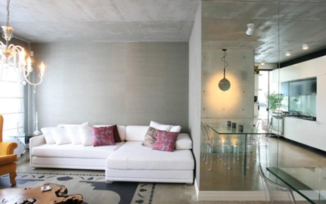 decoracao de sala unica:Brique Engenharia e Design: Concreto Aparente
