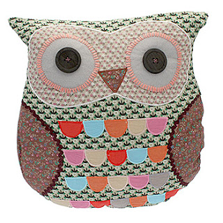 quirky owl cushion