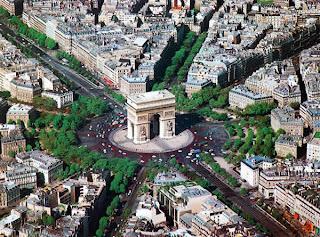 Arc de triomphe Chalgrin Gîte chambre d'hôtes Versailles parc Balbi