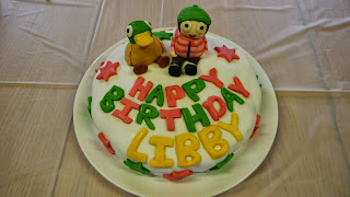 birthday cake, Sarah and Duck,