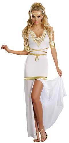 disfraz casero de diosa griega para mujer