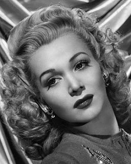 Vintage black and white photo of actress Carole Landis.