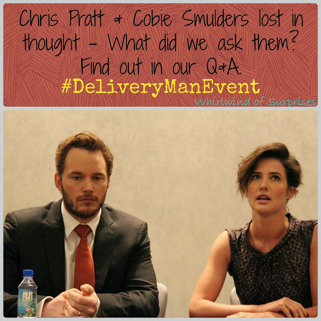 Interview with Chris Pratt and Cobie Smulders for #DeliveryManMovie, #DeliveryManEvent