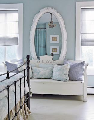 طرق رائعة لااستغلال المرآة فى منزلك .. bench%2Chome%2Cmirro